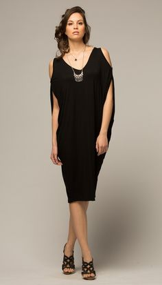 Azul Black Kaftan Dress