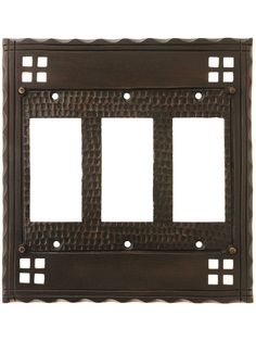 Quad Decora Switch Plate 4 Way Light Switch Cover Brown