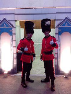 Soldados da Guarda Inglesa. Para a recepção de convidados