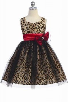 - Super cute leopard print dress with tulle overlay with champagne taffeta fabric and Jaguar print flower on the bodice, Dresses, Ebuybit Girls Party Dress, Birthday Dresses, Flower Dresses, Bridal Dresses, Animal Print Wedding, Queen Fashion, African Inspired Fashion, Leopard Dress, Chic Dress