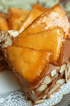 Hungarian Dessert Dobos Torte - my grandmother used to make these