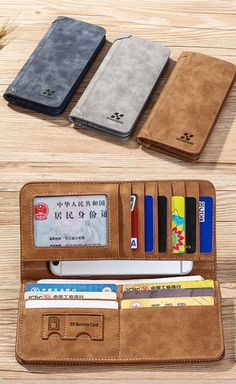 $8.82 Vertical PU Leather Wallet 13 Card Slots Card Holder Casual Bill Holder For Men