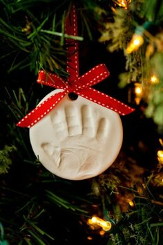 Would be lovely to create this first Christmas ornament— or maybe one per year for each child.