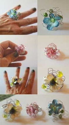 Jilliene Designing: Tutorial: Gorgeous Flower and Bead Wire Wrap Ring