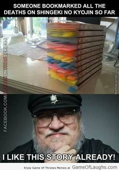 George RR Martin is a fan of Attack On Titan