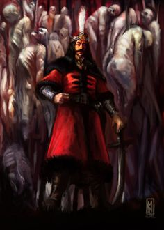 My depiction of the Century Wallachian Prince, Son of the Dragon, Vlad Dracula. The figure who Bram Stoker based his Dracula story on. Vlad The Impaler