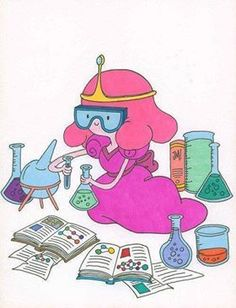 Need to paint this on canvas for the classroom: Princess chemist (maybe make a prince too)