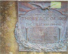 Peace Memorial Plaqu