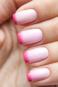 Pink ombre cute nails pink nail pretty nails nail art nail ideas nail designs ombre