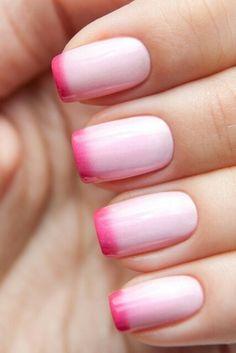 Pink ombre cute nails pink nail pretty nails nail art nail ideas nail designs ombre