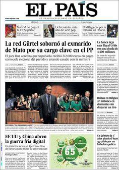 Los Titulares y Portadas de Noticias Destacadas Españolas del 20 de Febrero de 2013 del Diario El País ¿Que le parecio esta Portada de este Diario Español?
