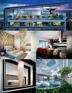 Missoni in Manila! Talk about a vacation home. Would love to drape myself in the famous chevron knits and host a striped soiree.