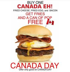 Come celebrate CANADA DAY with us and enjoy this special as a token of our appreciation for our country and your business Canada Eh, Toronto Canada, Happy Canada Day, Cheese Fries, Grilling, Bacon, Ontario, Ethnic Recipes, Yonge Street