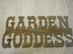 Rusted Rustic Metal Garden Goddess  Sign by RockinBTradingCo, $16.00  www.rockinbtrading.com