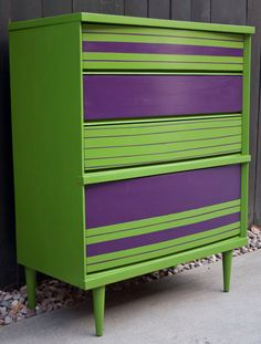 121 best interior purple \u0026 green images lilac color, bedroomitems similar to retro fresh green and purple dresser on etsy
