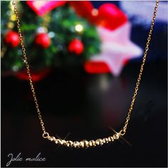 Rakuten: K10 gold mirror ball line necklace pendant [the jewelry which I want to put on in summer] which Cem Kelly can choose- Shopping Japanese products from Japan