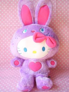 hello kitty X colorful bunny Hello Kitty Plush, Sanrio Hello Kitty, Sailor Moon, Hello Kitty Christmas, Baby Girl Toys, Hello Kitty Collection, Cute Stuffed Animals, Hello Kitty Wallpaper, Barbie