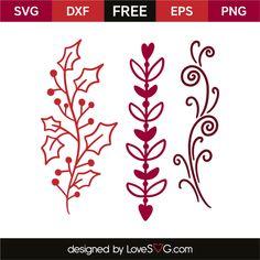 *** FREE SVG CUT FILE for Cricut, Silhouette and more *** Flourish