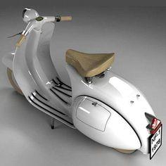 OK, it's CGI'd - but still looks nice though eh. - All things Lambretta & Vespa Piaggio Vespa, Vespa Vbb, Vespa Scooters, Moto Vespa, Lambretta Scooter, Scooter Motorcycle, Motor Scooters, Vespa Vintage, Vintage Bikes