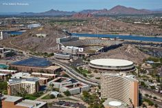 Tempe is located in the East Valley section of metropolitan Phoenix; it is bordered by Phoenix on the west, Scottsdale on the north, Chandler on the south, Mesa on the east, and the home of Arizona State University.