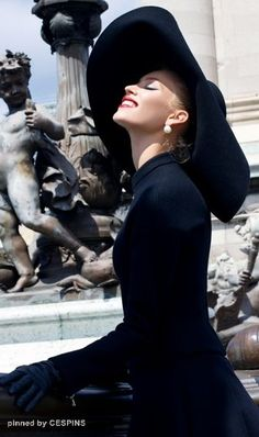 ༺✿* H A T PARTY `✿⊱╮ **She's a lady in black - CESPINS❤️**