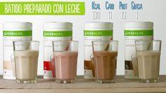 Batido Nutricional Herbalife como preparalo con leche