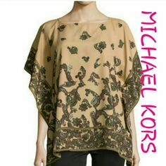 📬FREE SHIPPING📬 NWT MICHAEL KORS BROWN PAISLEY Nwt.  See last pic for details. Michael Kors Tops