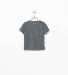 Image 1 of ORGANIC COTTON T-SHIRT WITH POCKET from Zara