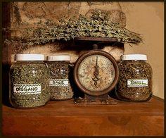 Culinary Herb Jars by wildernessgal