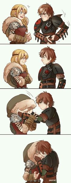 Hiccup y Astrid Dreamworks Dragons, Disney And Dreamworks, Disney Pixar, Merida And Hiccup, Hiccup And Astrid, How To Train Dragon, How To Train Your, Hicks Und Astrid, Dragon Trainer