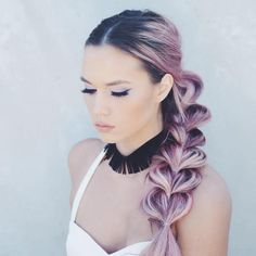 Master the art of pull through braid technique and you will never have a boring hair day again. Check 20 best ideas and tutorials! Box Braids Hairstyles, Cool Hairstyles, Pull Through Braid, Best Wedding Hairstyles, Pastel Hair, Hair Day, Gorgeous Hair, Balayage Hair, Rapunzel