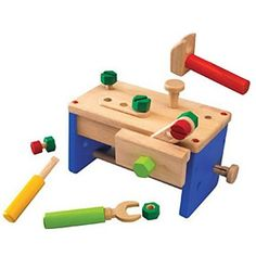 Wooden Toy Work Bench / Tool Box