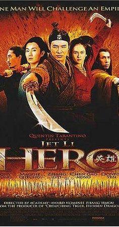 Directed by Yimou Zhang.  With Jet Li, Tony Chiu Wai Leung, Maggie Cheung, Ziyi Zhang. A defense officer, Nameless, was summoned by the King of Qin regarding his success of terminating three warriors.