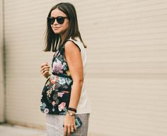 Fashion Week Street Style, Day Five: Miroslava Duma's maternity style.
