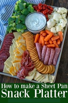 How to make a Sheet Pan Snack Platter for a hungry crowdYou can find Snacks for party and more on our website.How to make a Sheet Pan Snack Platter for a hungry crowd Party Food Platters, Snack Platter, Hummus Platter, Snack Trays, Crudite Platter Ideas, Snacks Dishes, Meat Platter, Antipasto Platter, Seafood Platter