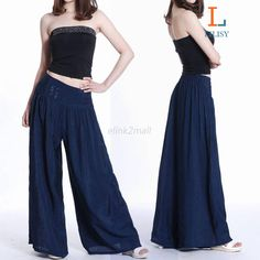 New Fashion Women Loose Long Culottes Brocade Pants Wide Leg Pants Trouser BC29 2015 shirts https://www.sunfrog.com/Best-Sellers/?7833