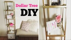 Dollar tree DIY/Glass shelf unit collab with coupontoprovide - YouTube