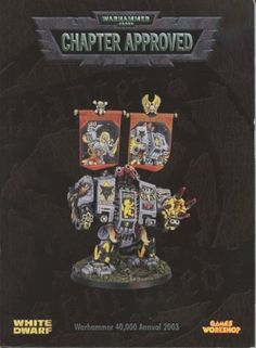 Warhammer 40K Annual 2003 Chapter Approved OOP
