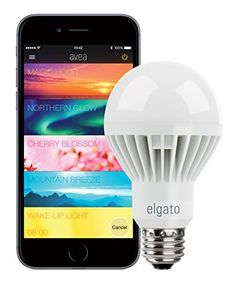 """Elgato Avea, Dynamic Mood Light - for iPhone and iPad, Bluetooth Low Energy, 7 W LED, E26 "", http://www.amazon.com/dp/B00OH4G8IS/ref=cm_sw_r_pi_awdl_Fgs2ub058W4PF"