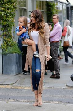 Preened:Tamara Ecclestone made the most of owning her own blow dry bar as she enjoyed some pampering at her hair salon, Show, in London's Westbourne Grove on Friday morning
