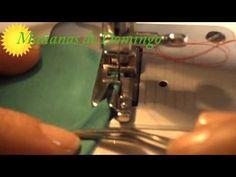 Dobladillo con prensatela doble arrastre y agujas gemelas - YouTube