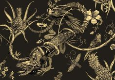 Iguana Superwide Wallpaper by Timorous Beasties