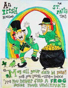 St Patrick's Day Coloring Page- free printable #print #coloringpage skiptomylou.org
