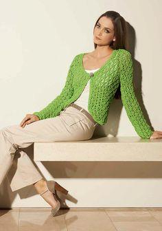Lana Grossa JACKE IM AJOURMUSTER Cotofine - FILATI CLASSICI No. 3 - Modell 35 | FILATI.cc WebShop