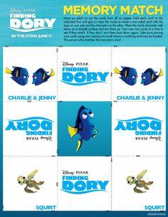 Disney/Pixar's Finding Dory swims into theatres June Early Childhood Activities, Disney Printables, Finding Dory, One Sided, Disney Pixar, Movie Tv, Classroom, Free, Theatres