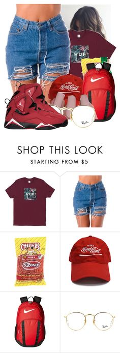 """""""Huf"""" by papilucas ❤ liked on Polyvore featuring NIKE and Ray-Ban"""