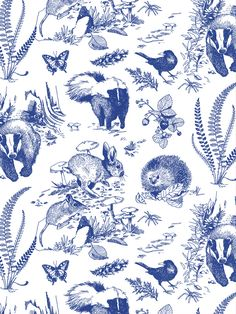 Silk screened wallpapers: beautiful hand made wallpapers by designer Audrey Fortin - Walls of Ivy