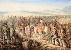 General Chutes March Maori Wars New Zealand Colonial Art, British Colonial, Chatham Islands, Major General, National Symbols, World Globes, First World, New Zealand, Watercolor