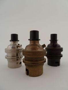 Image of metal | lightbulb holder | BC | standard bayonet