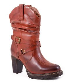 Take a look at this Brown Rockstar Cowboy Boot - Women by Roper on #zulily today!